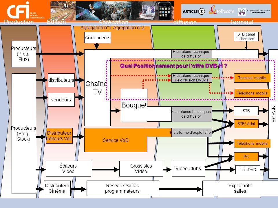 Chaîne TV Bouquet Production Édition Agrégation diffusion Terminal