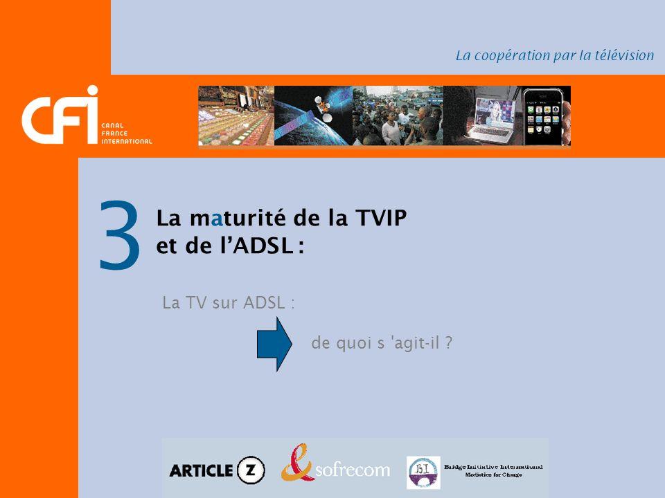3 La maturité de la TVIP et de l'ADSL : La TV sur ADSL :