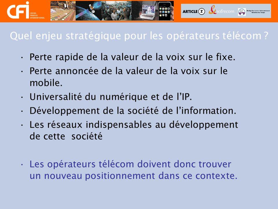 Quel enjeu stratégique pour les opérateurs télécom