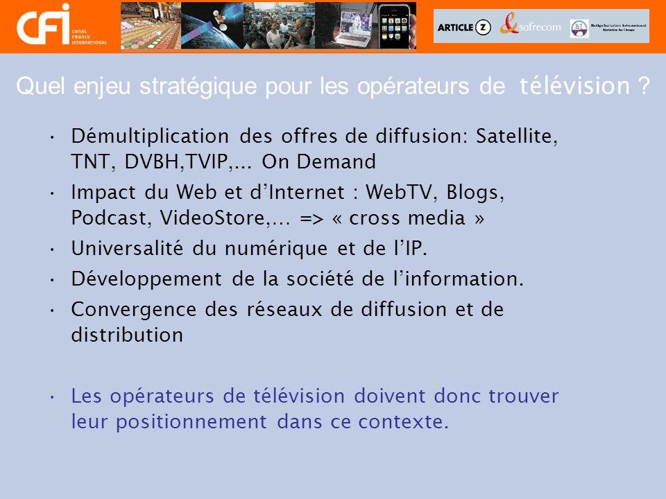 Quel enjeu stratégique pour les opérateurs de télévision