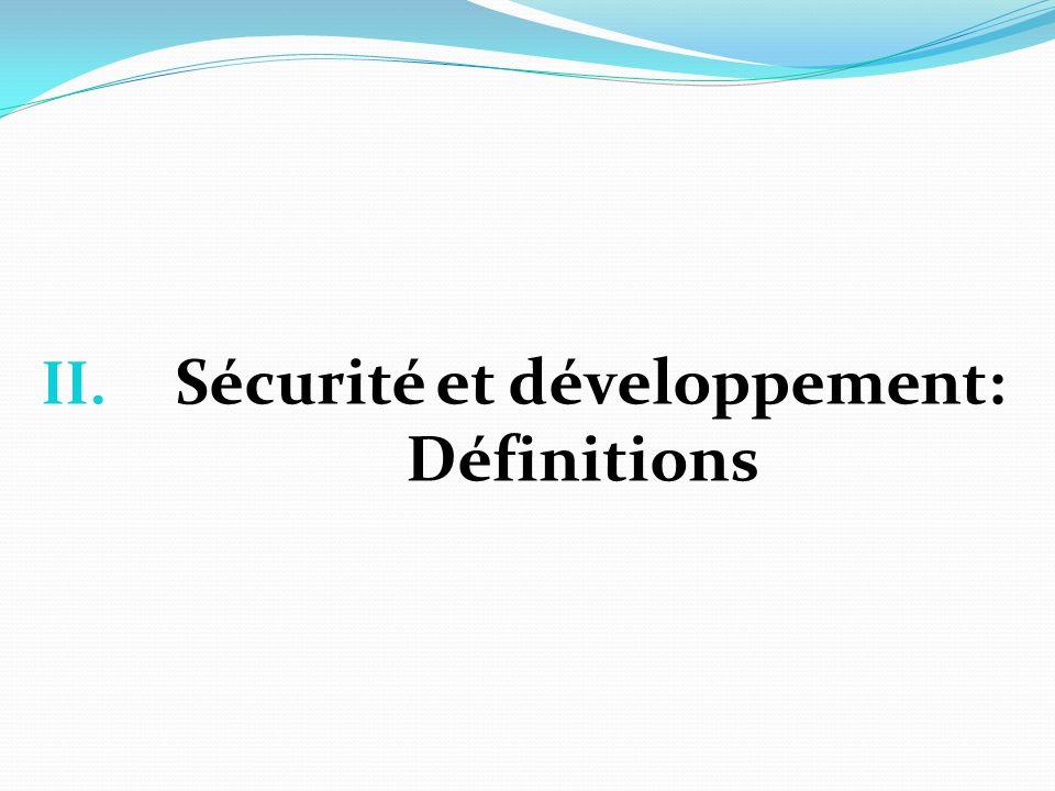 Sécurité et développement: Définitions