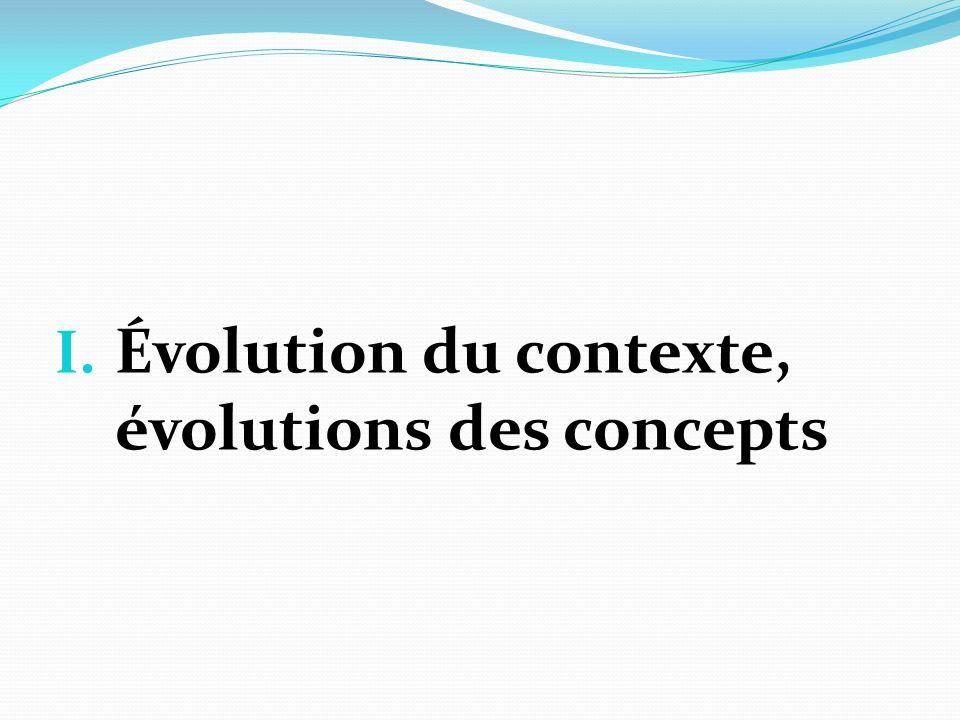 Évolution du contexte, évolutions des concepts