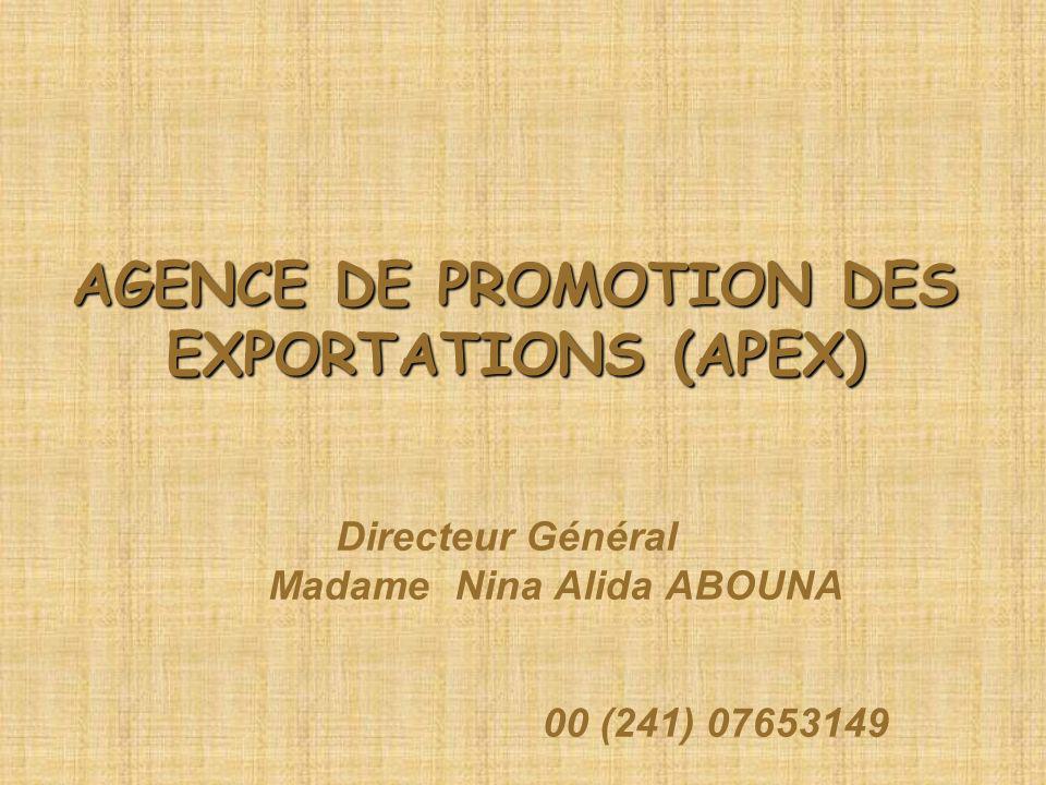 AGENCE DE PROMOTION DES EXPORTATIONS (APEX)
