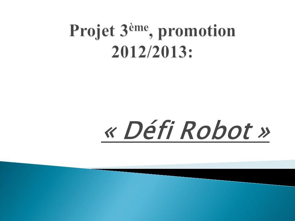 Projet 3ème, promotion 2012/2013: