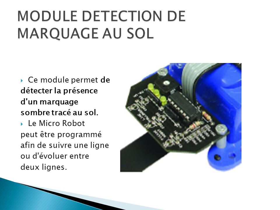 MODULE DETECTION DE MARQUAGE AU SOL