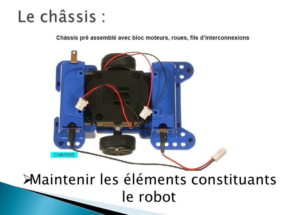 Le châssis : Maintenir les éléments constituants le robot
