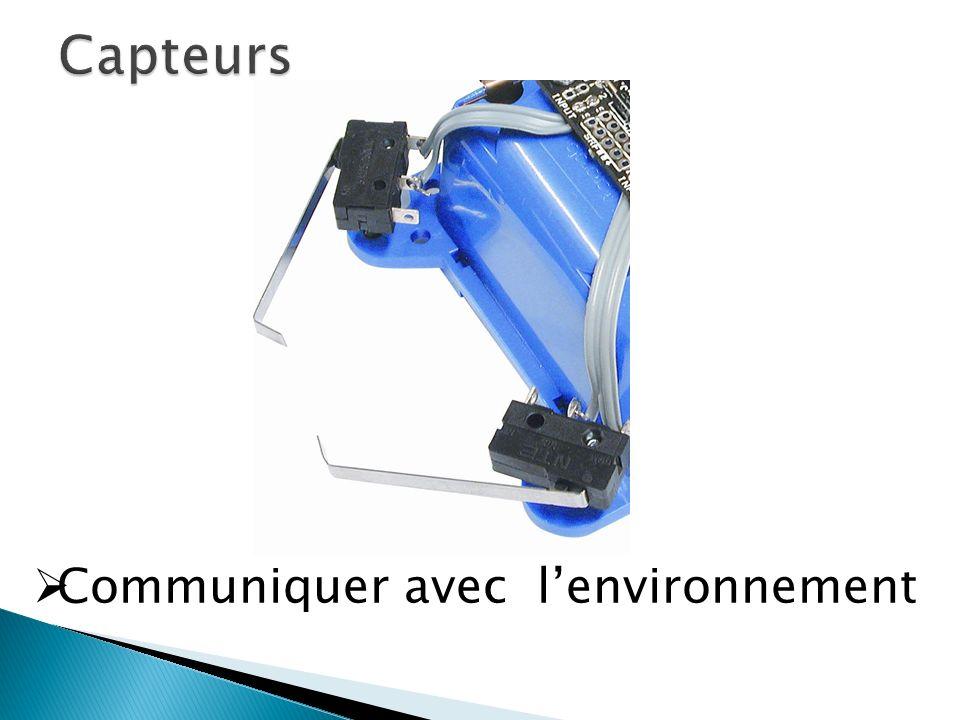 Capteurs Communiquer avec l'environnement