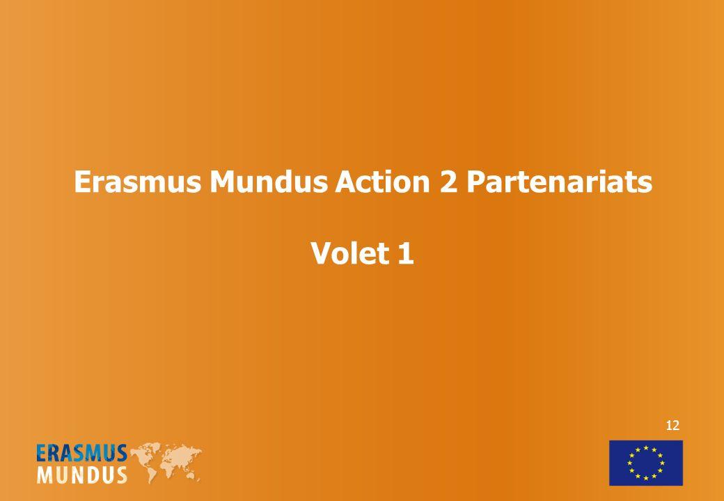 Erasmus Mundus Action 2 Partenariats Volet 1