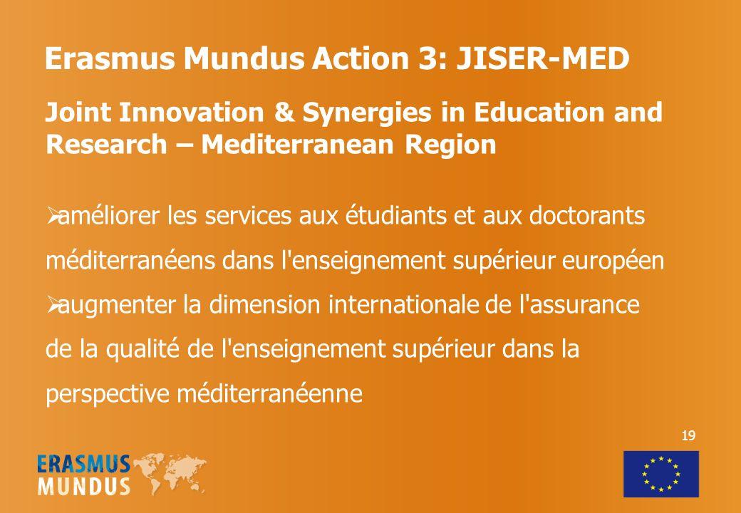 Erasmus Mundus Action 3: JISER-MED