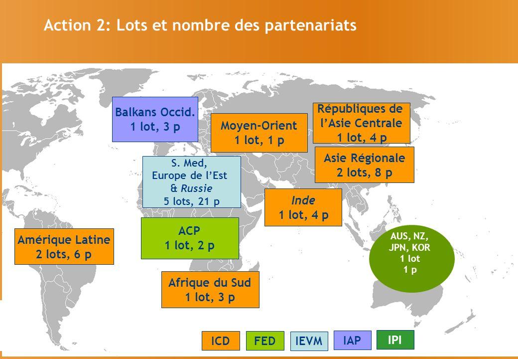 Action 2: Lots et nombre des partenariats