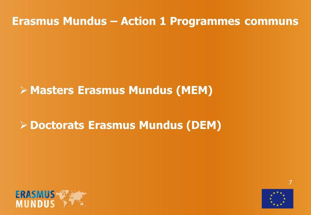 Erasmus Mundus – Action 1 Programmes communs