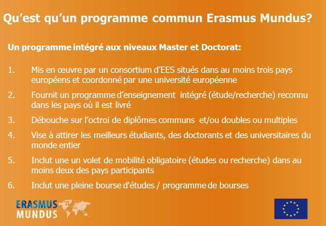 Qu'est qu'un programme commun Erasmus Mundus