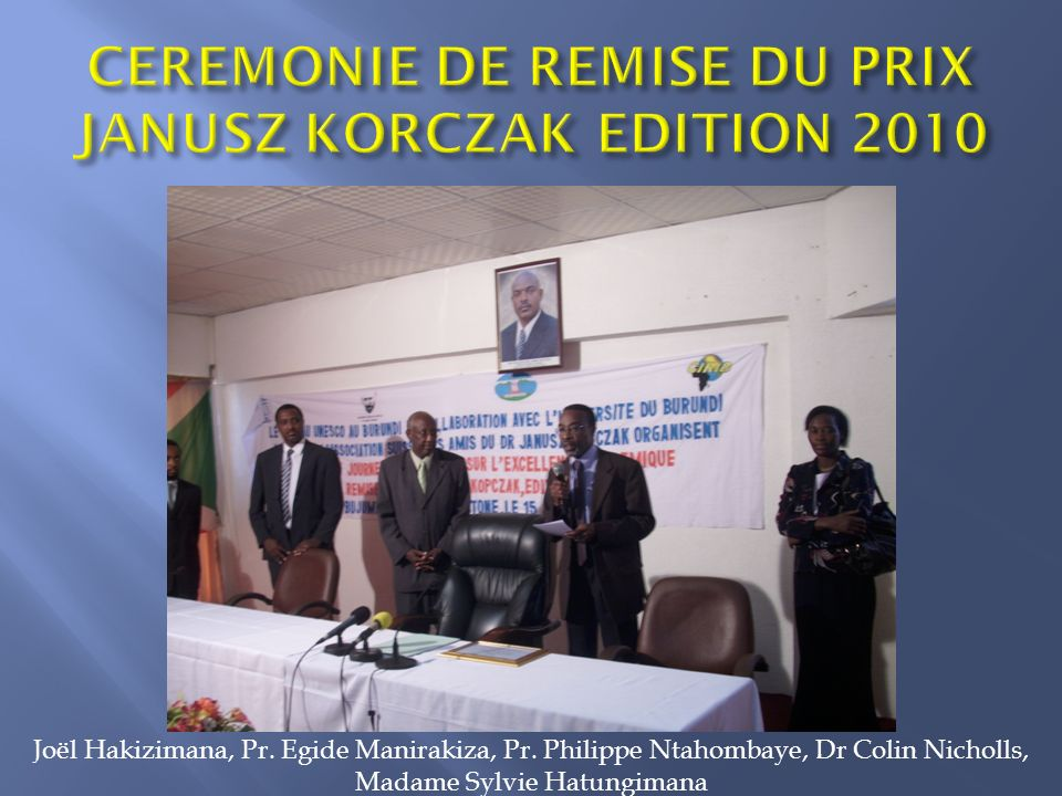 CEREMONIE DE REMISE DU PRIX JANUSZ KORCZAK EDITION 2010
