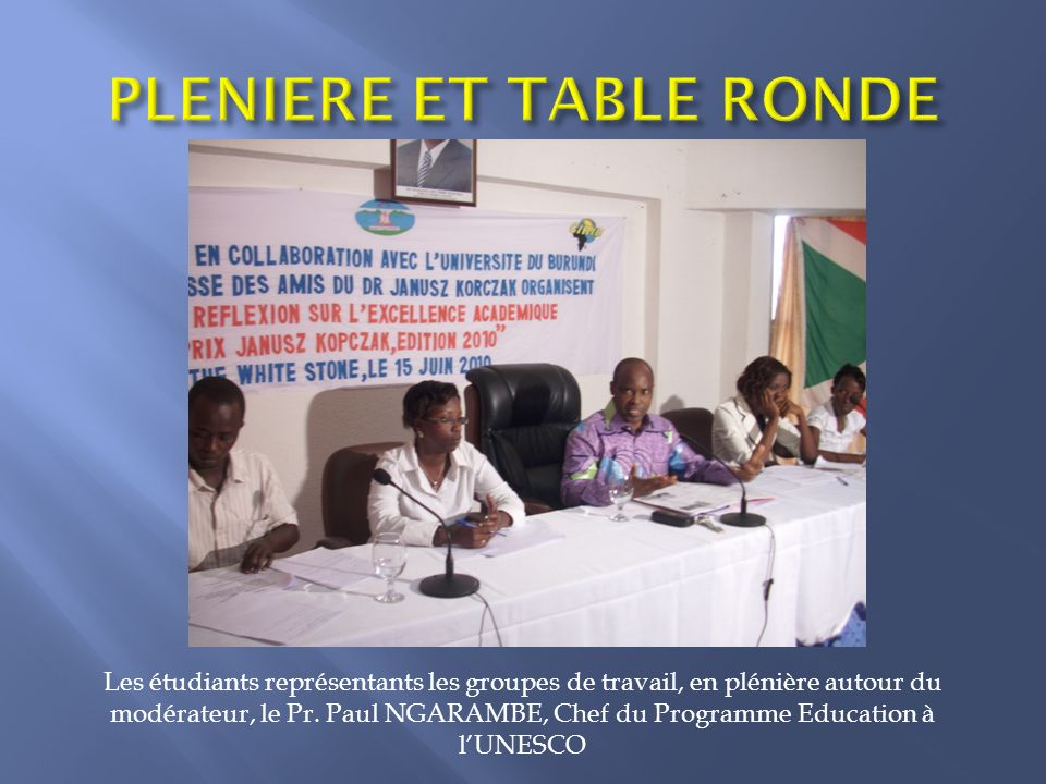 PLENIERE ET TABLE RONDE