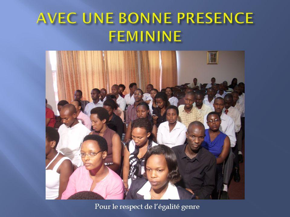 AVEC UNE BONNE PRESENCE FEMININE