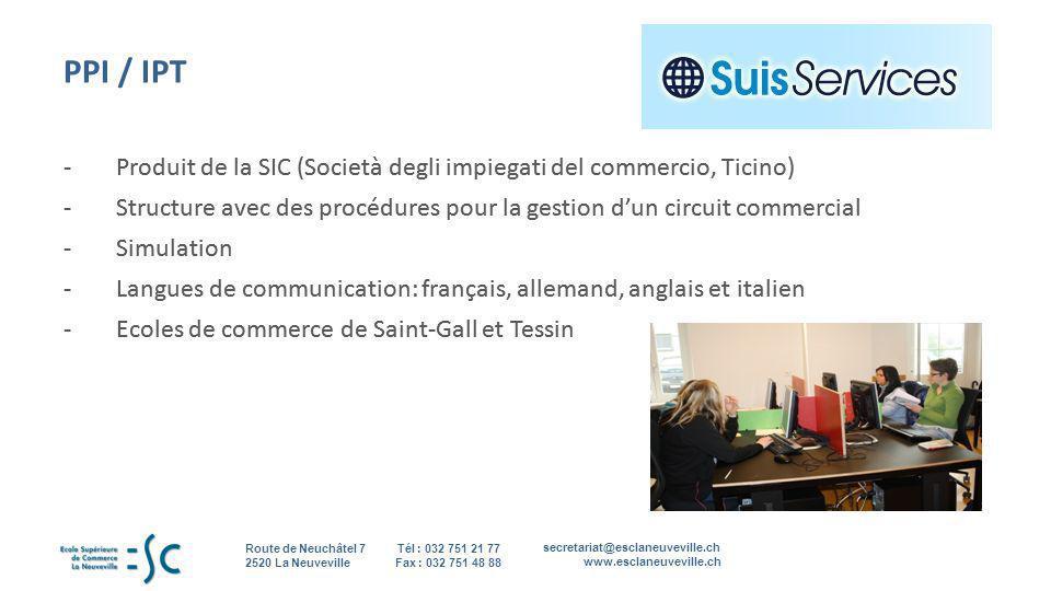 PPI / IPT - Produit de la SIC (Società degli impiegati del commercio, Ticino)
