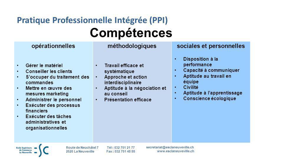 Pratique Professionnelle Intégrée (PPI)