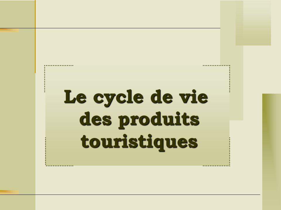 Le cycle de vie des produits touristiques