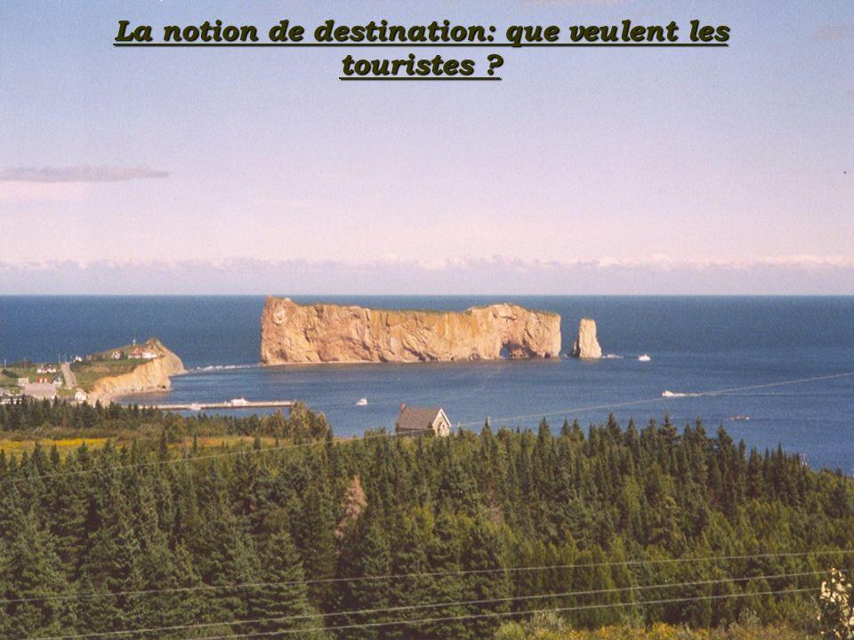 La notion de destination: que veulent les touristes