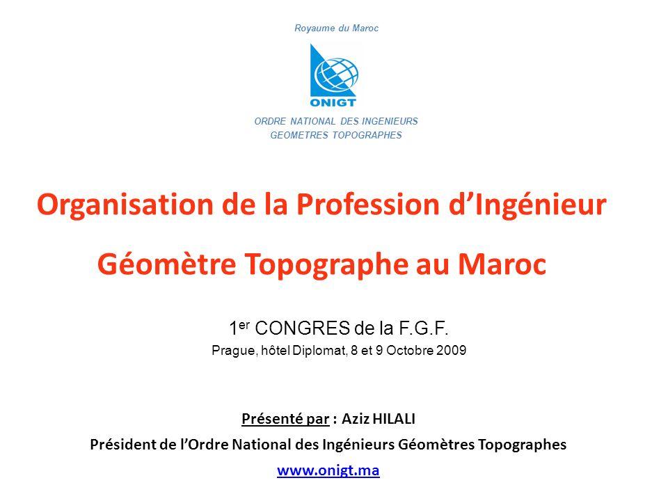Organisation de la Profession d'Ingénieur Géomètre Topographe au Maroc
