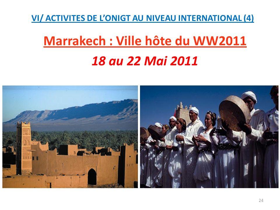 Marrakech : Ville hôte du WW2011 18 au 22 Mai 2011