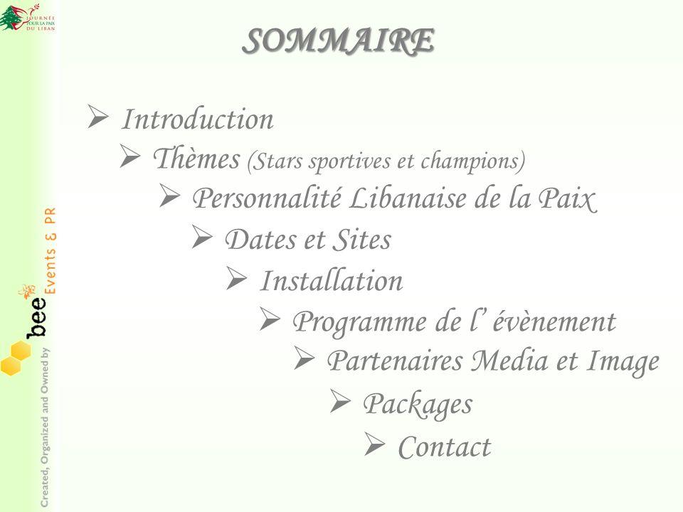 SOMMAIRE Introduction Thèmes (Stars sportives et champions)