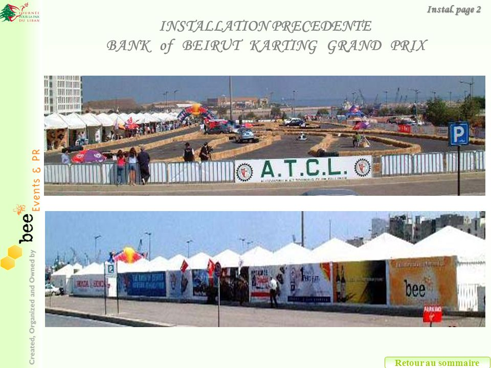 INSTALLATION PRECEDENTE BANK of BEIRUT KARTING GRAND PRIX