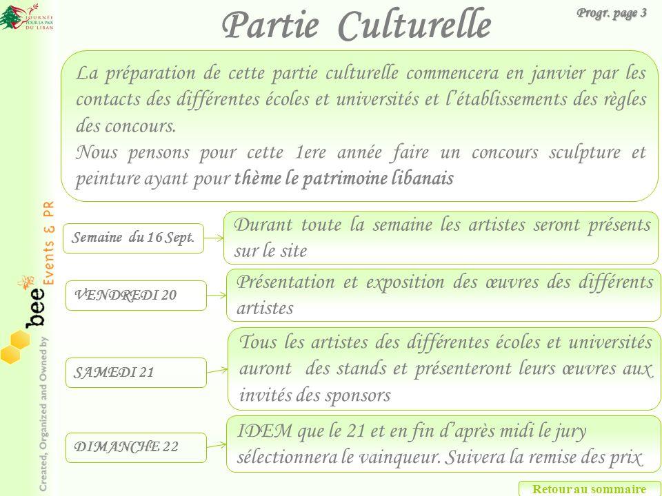Partie Culturelle Progr. page 3.