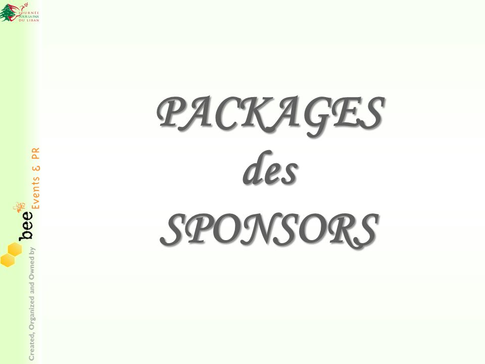 PACKAGES des SPONSORS