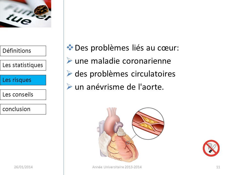 Des problèmes liés au cœur: une maladie coronarienne