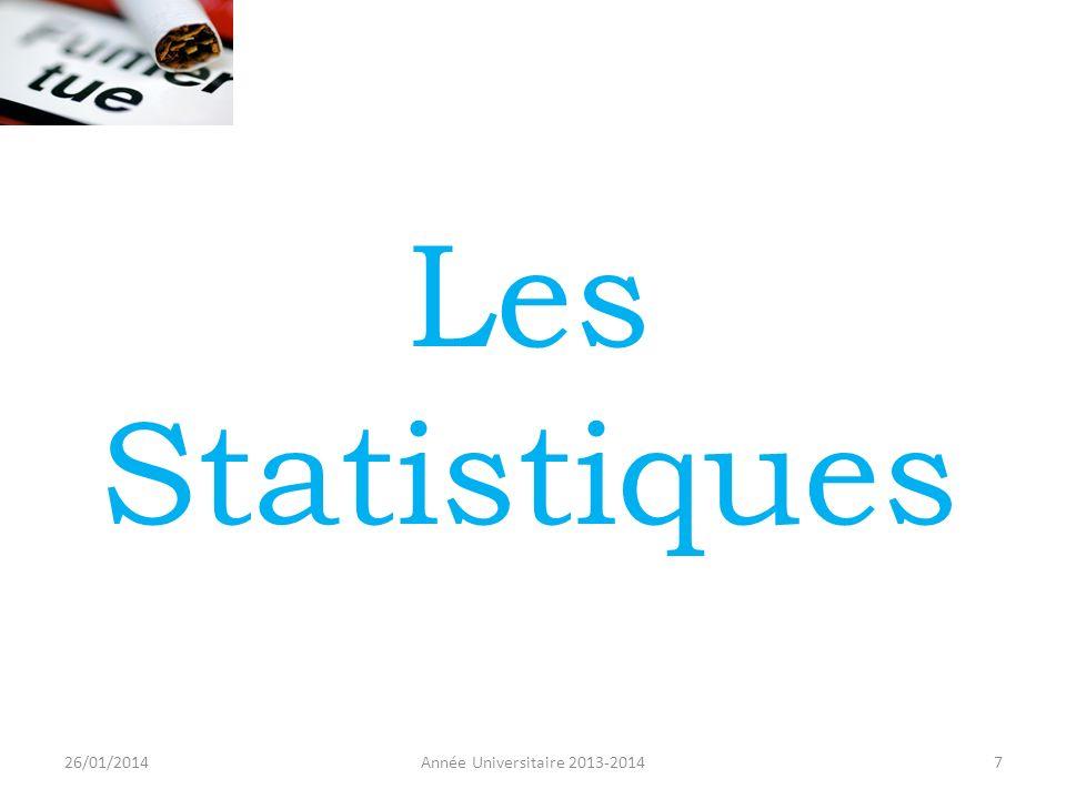 Les Statistiques 26/01/2014 Année Universitaire 2013-2014