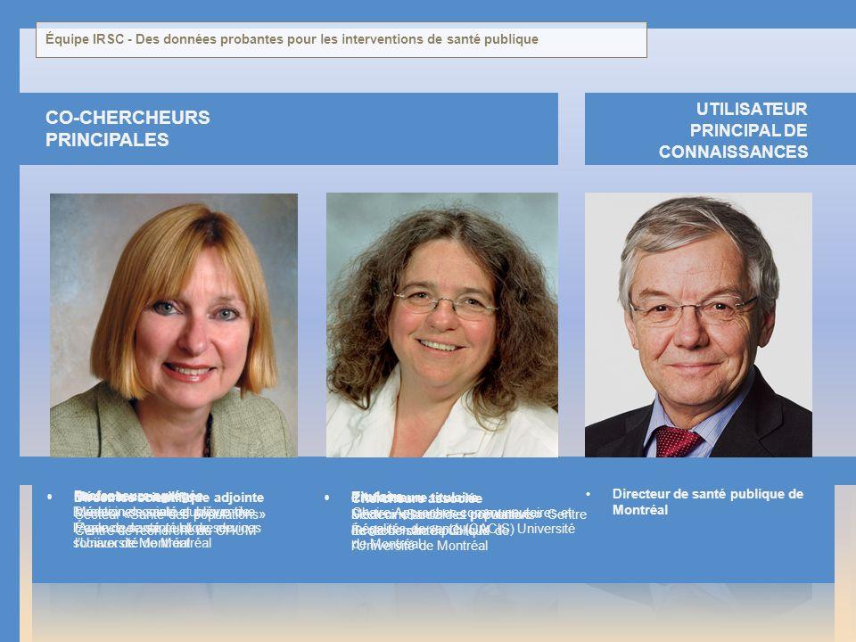 RAYNAULT Potvin LESSARD co-cHERCHEURS principales Marie-France Louise