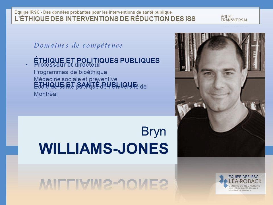 L'ÉTHIQUE DES INTERVENTIONS DE RÉDUCTION DES ISS