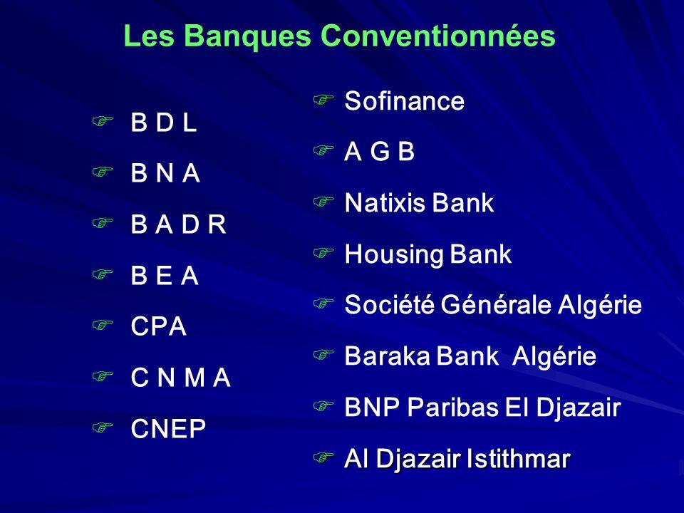 Les Banques Conventionnées