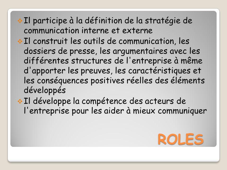 Il participe à la définition de la stratégie de communication interne et externe