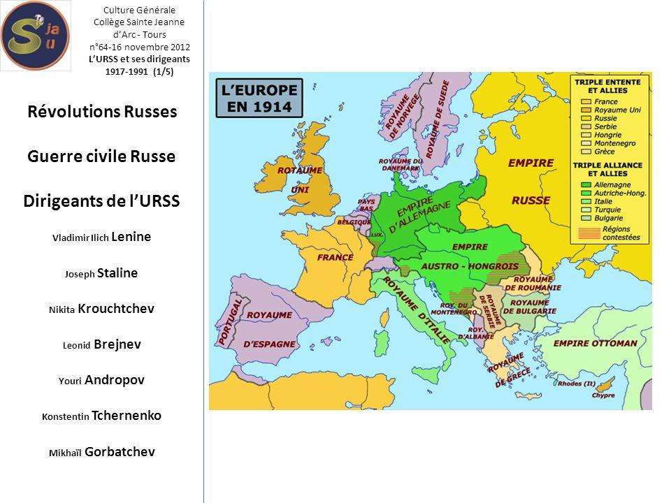L'URSS et ses dirigeants Konstentin Tchernenko