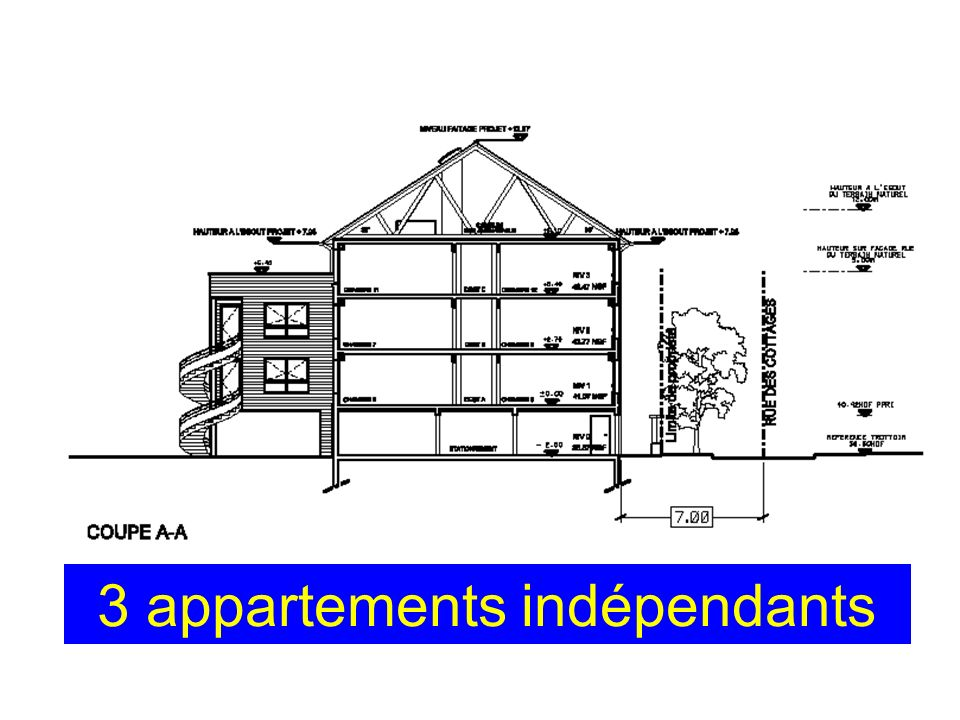 3 appartements indépendants