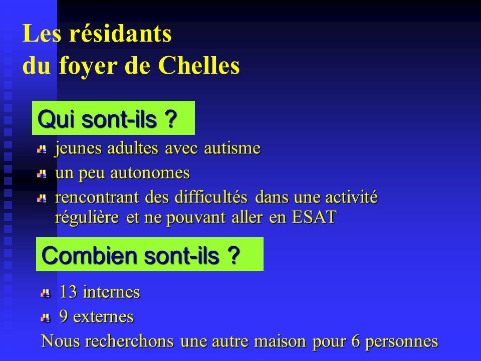 Les résidants du foyer de Chelles