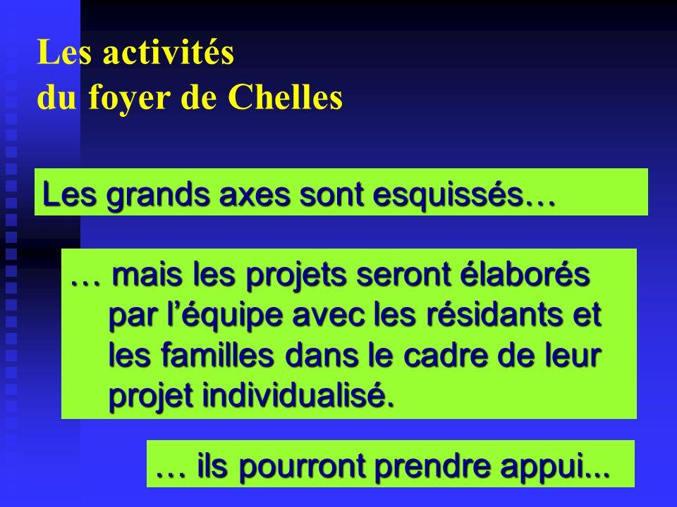 Les activités du foyer de Chelles