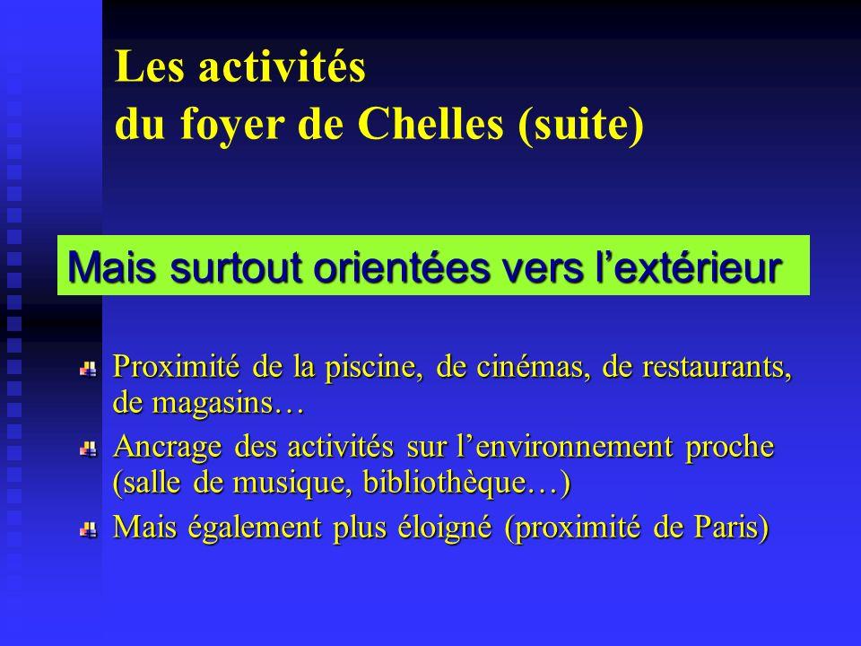 Les activités du foyer de Chelles (suite)