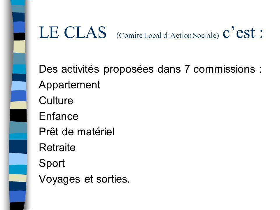 LE CLAS (Comité Local d'Action Sociale) c'est :