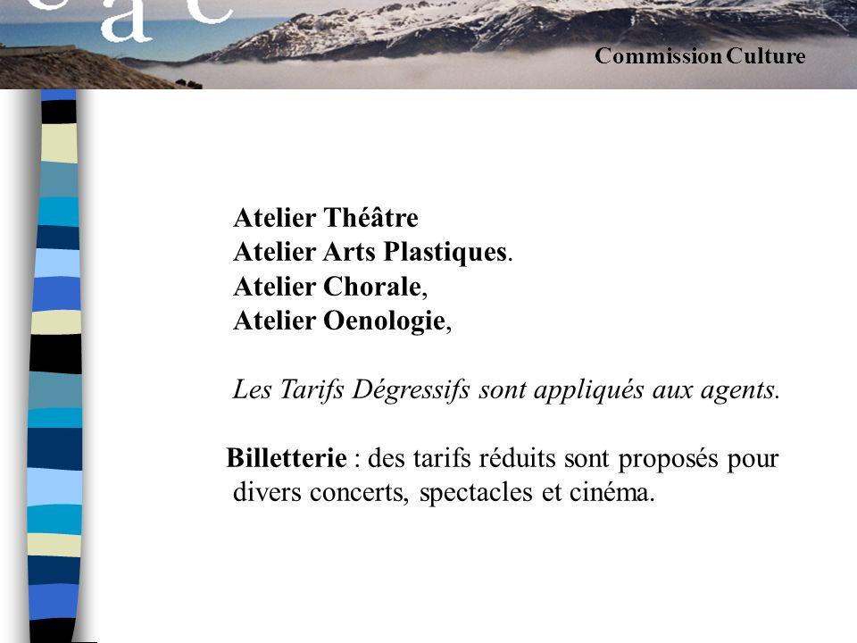 Atelier Théâtre Atelier Arts Plastiques. Atelier Chorale,