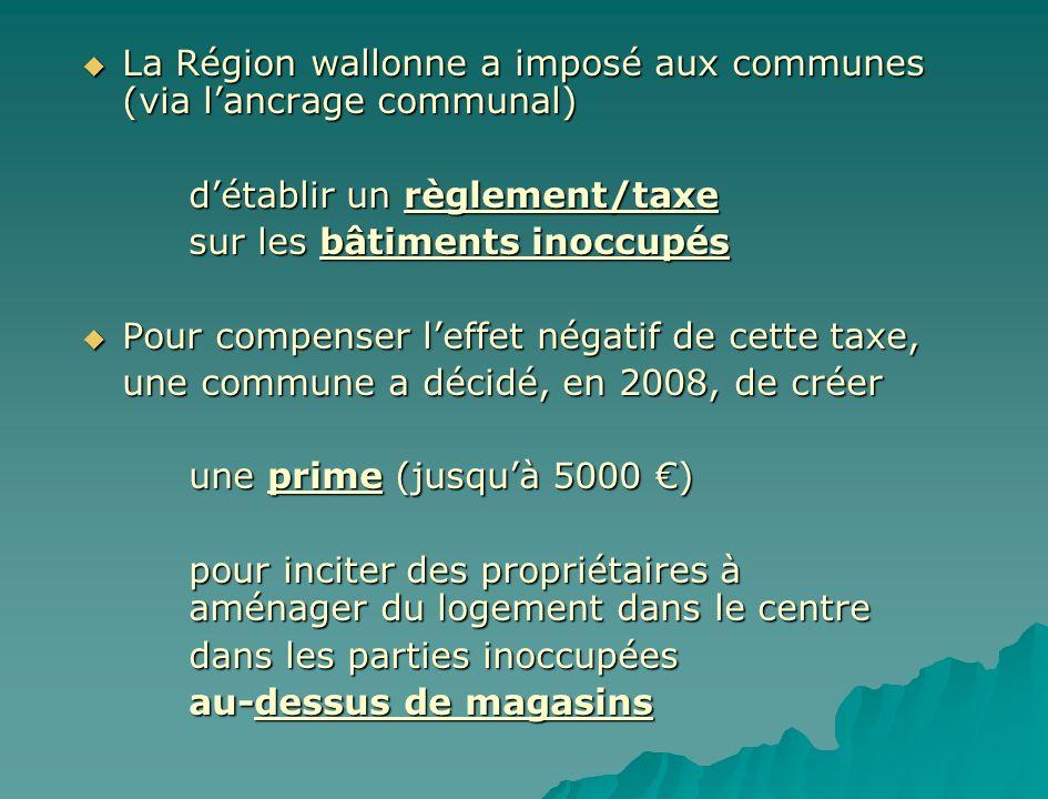 La Région wallonne a imposé aux communes (via l'ancrage communal)