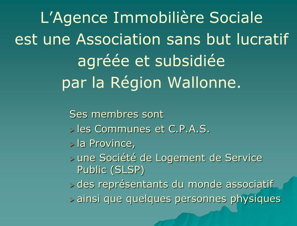 L'Agence Immobilière Sociale est une Association sans but lucratif