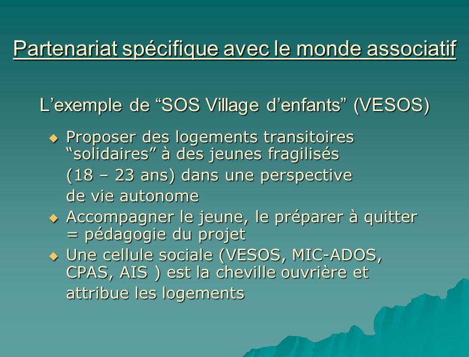 Partenariat spécifique avec le monde associatif L'exemple de SOS Village d'enfants (VESOS)