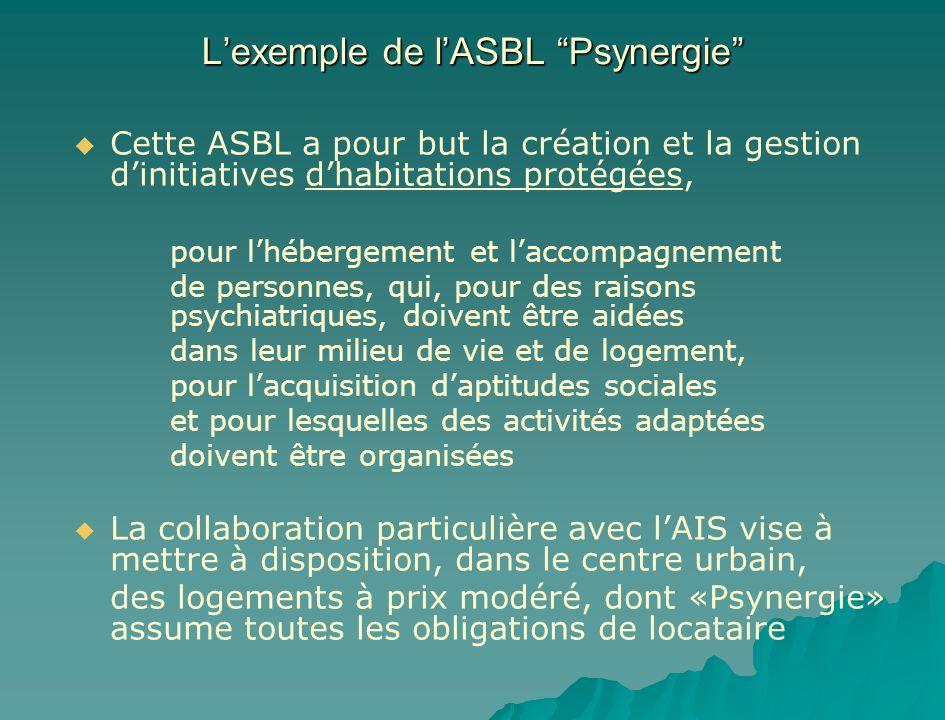 L'exemple de l'ASBL Psynergie
