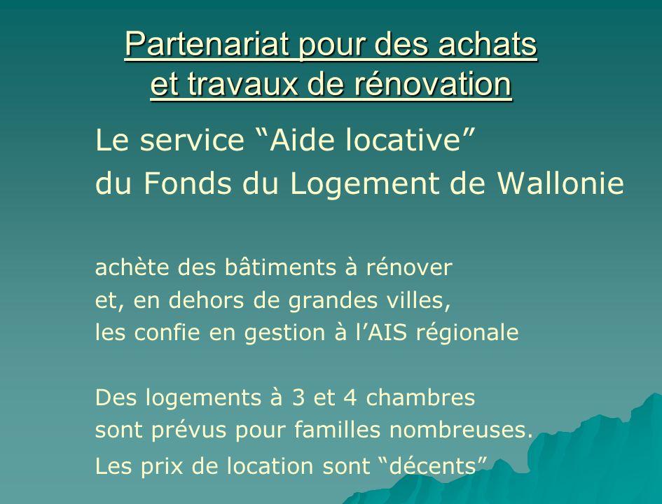 Partenariat pour des achats et travaux de rénovation
