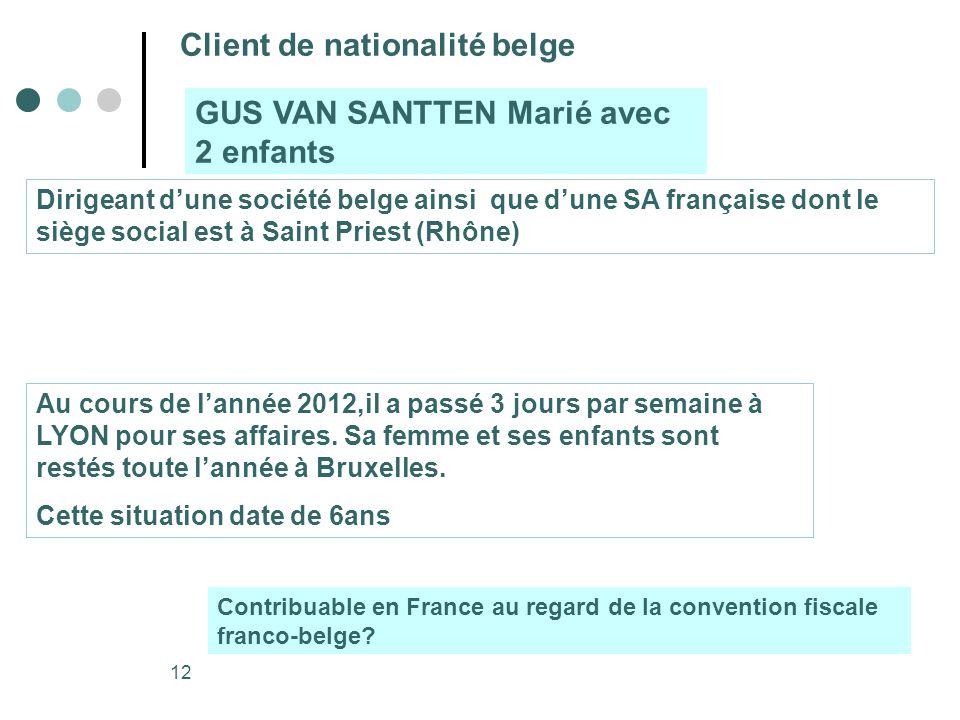 Client de nationalité belge