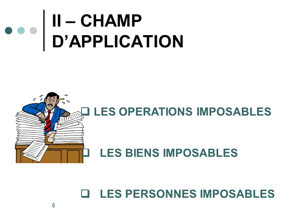 II – CHAMP D'APPLICATION