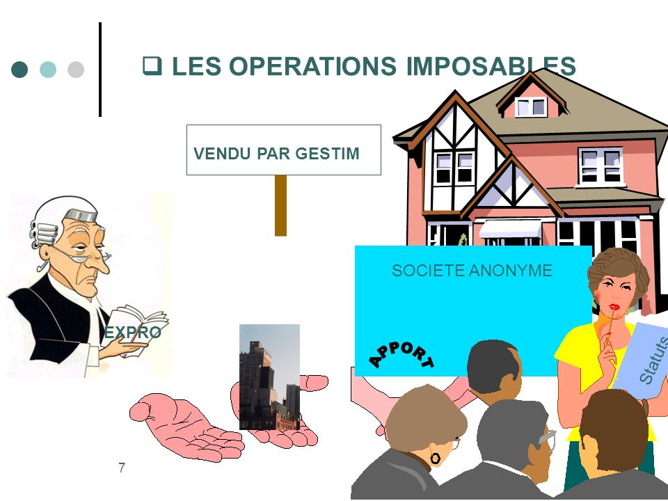  LES OPERATIONS IMPOSABLES
